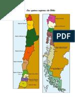 15 Regiones de Nuestro Pais Chile.
