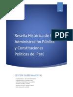 Reseña Histórica de La Administración Pública y Constituciones Políticas Del Perú