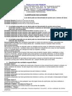 CLASSIFICACAO CAVIDADES