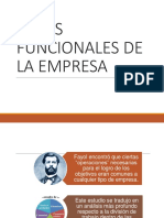 Administración Areas Funcionales Empresa