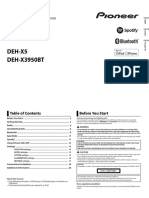 Deh-x3950bt Operating Manual