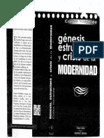 Valverde Carlos (1996). Génesis, Estructura y Crisis de La Modernidad. Biblioteca de Autores Cristianos. Libro Completo.