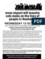 The Impact of Cuts in Newham