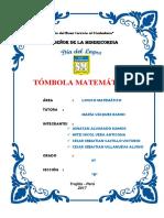 Informe Tombola Matematica