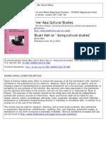 "Daniel Mato - Stuart Hall on ""doing cultural studies"""