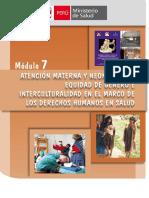 Atencion Materna y Neonatal Con Equidad de Genero e Interculturalidad Humanos en Salud