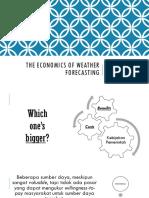The Economics of Weather Forecasting