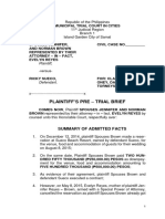 Pre Trial Brief Sample