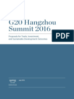 G20 Hangzhou Summit Proposals for Trade, Investment, And Sustainable Development Outcomes_0