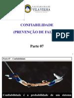 Aula Qualidade Parte 07 Confiabilidade 20170728-1347