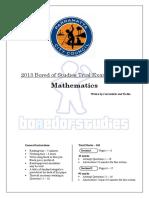 1406041033 2013 Mathematics Trial Paper