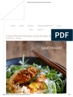 3 Easy Ramen Recipes Using Korean Ramen _ Kimchimari