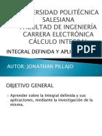 Jonathan Pillajo - Integral Definida