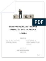 Investor Profiling Through Estimated Risk Tolerance Levels