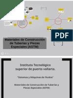 Materiales de Construcción de Tuberías y Piezas Especiales (ASTM)