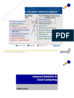 Analytics Cloud Computing