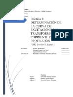 Determinación de la curva de excitación de un Transformador de Corriente para Protección