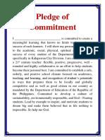 Pledge of Commitment