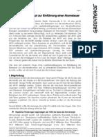 Greenpeace-Konzept zur Einführung einer Atomsteuer