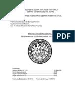 informe de humedad de muestras de laboratorio