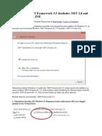 Cara Install .NET Framework 3.5 (Includes .NET 2.0 and 3.0) Secara OFFLINE