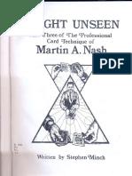 Martin Nash - Sleight Unseen