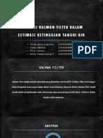 Aplikasi Kalman Filter Dalam Estimasi