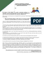 Peer-evaluation Sheets for Final Essay