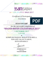 Nasam Certificate 2017