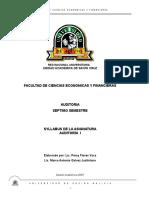 Syllabus Auditoria I