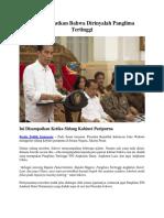 Jokowi Ingatkan Bahwa Dirinyalah Panglima Tertinggi