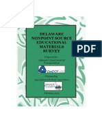 Delaware Nonpoint Source Educational Materials Survey