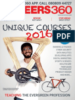 Careers 360 Magazine August 2016, Unique Courses 2016 (India)