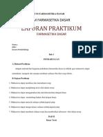 Laporan Praktikum Farmasetika Dasar