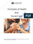 Principles of Health and Social Care