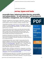 Psychometric Test Basics