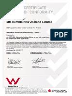 SAI Global - Watermark Certificate Pex Fittings