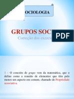 Grupos Sociais Correção Dos Exercícios