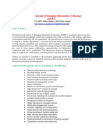 International Journal of Managing Information Technology IJMIT