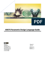 ANSYS parametric design language guide