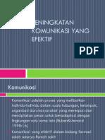 Peningkatan Komunikasi Yang Efektif. PPT