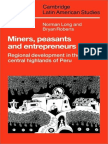 Norman Long, Bryan Roberts Miners, Peasants and Entrepreneurs Regional Development in the Central Highlands of Peru Cambridge Latin American Studies