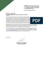 Carta de Invitación InspirateUNI Mercedes Cabello de Carbonera