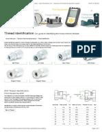 Thread Identification for Hydraulic and Pneumatic Threads - Apex Fluid Power Ltd. - Hydraulic and Industrial Equipment Supplier