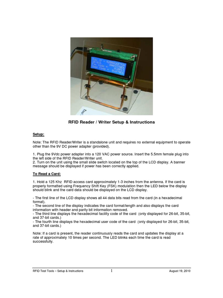 RFID Reader Cloner Spoofer Instructions | Radio Frequency