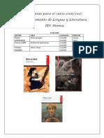 Lecturas Lengua 2017- 2018