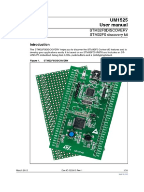UM1525 STM32F0 Discovery Kit User Manual | Digital
