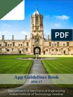 Mech App Guideline Book 2016-17
