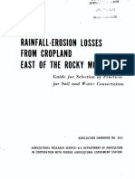 Rainfall Erosion Losses From Cropland East of the Rocky Mountains