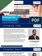 Dr Chirag Patel - Orthopaedic Specialist Profile